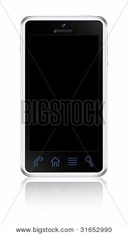 Touchscreen Smartphone Concept. Vector Illustration