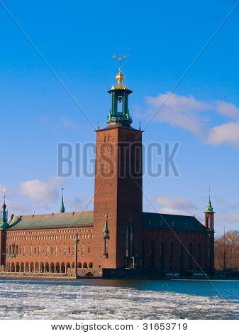 building of city hall of Stockholm, Sweden