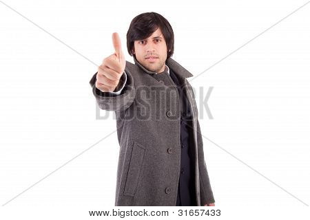 Business Man Showing Thumb Up