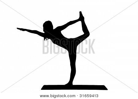 silhouette of a beautiful young women practicing yoga