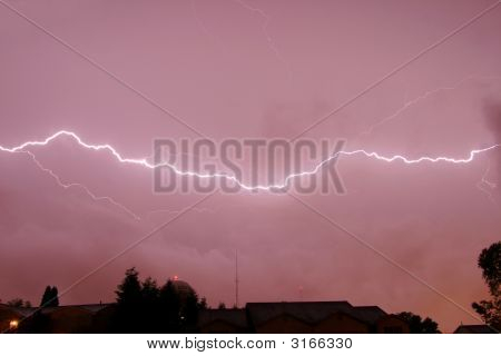 Horizontal Lightning Strike Thunderstorm