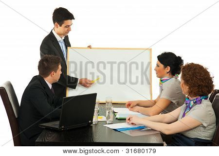Business Man Making Presentation At Meeting
