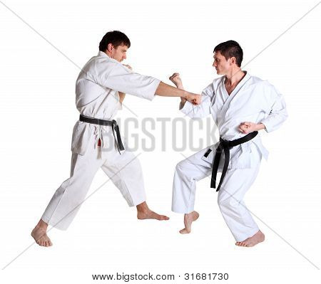 Karate. Men In A Kimono. Battle Sports Capture