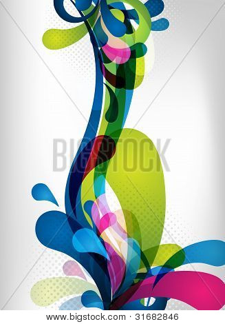 Colorful Vector Splash Design