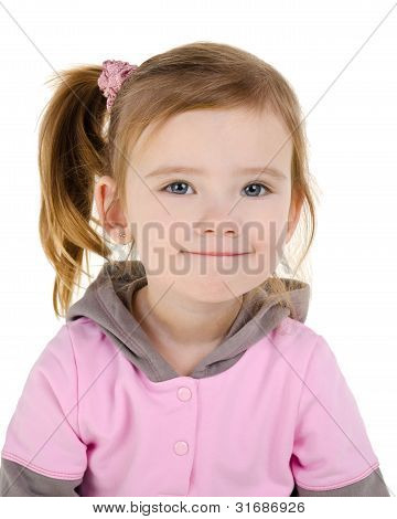 Portrait Of Smiling Cute Little Girl