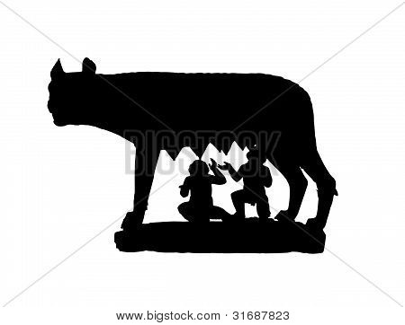 Capitoline Wolf Shadow