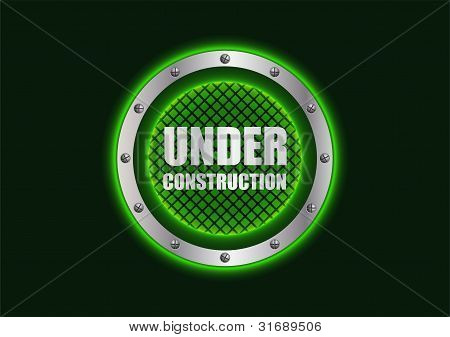 Special Under Construction Background With Metallic Design