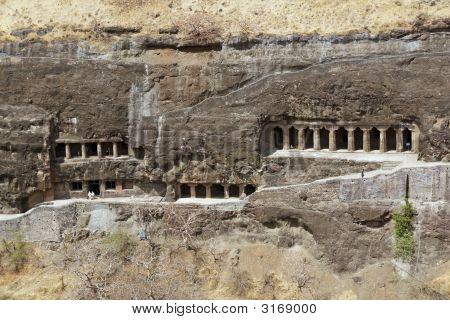 Buddhist Rock Temples At Ajanta