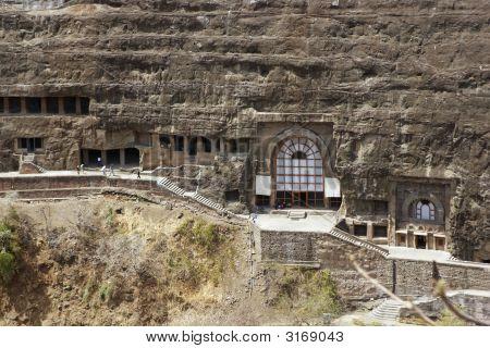 Ancient Buddhist Rock Temples At Ajanta