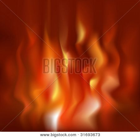 Fire background. Vector illustration. (RGB-model)
