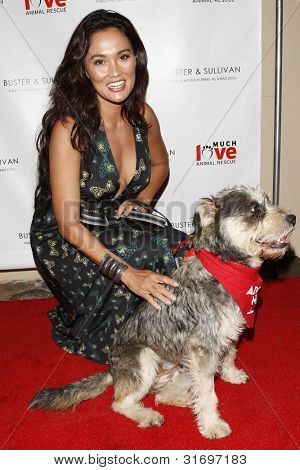 LOS ANGELES, CA - AUG 2: Tia Carrere at the opening of the new Upscale Doggie Boutique Buster & Sullivan in the Malibu Country Mart on August 2, 2007 in Malibu, California