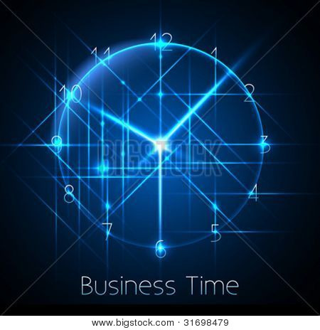 business time - abstract clock background - conceptual vector
