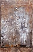 Rusty Metal Background, Metal Plate With Traces Of Rust, Metal Corroded Texture, Rusty Metal Backgro poster