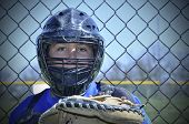 Young Baseball Catcher