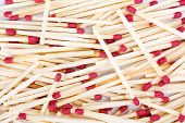 stock photo of sulfur tip  - A bunch of matches - JPG
