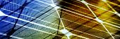 Abstract Glass Panoramic Background. Solar Energy Spectrum With Grid Lines poster