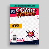 Comic Book Magazine Page Template Design Vector Illustration poster
