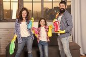 I Can Totally Make That. Just Like Home. Professional Service. Family Clean House. Happy Family Hold poster