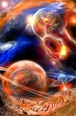 picture of science fiction  - unreal cosmic landscape - JPG