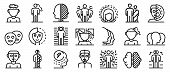 Bipolar Disorder Icons Set. Outline Set Of Bipolar Disorder Vector Icons For Web Design Isolated On  poster