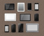 Different Generic Models of Tablet Devices and Smart Phones | EPS10 Vector Graphic | Layers Organize