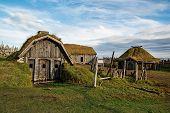 Stokksnes Viking Village Under Vestrahorn Mountain, Iceland poster