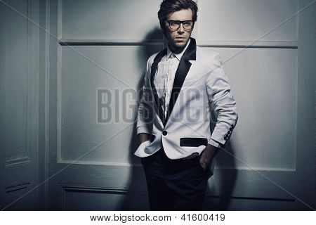 Fashion type photo of a young man