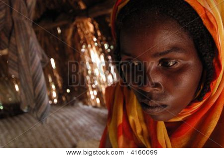Young Woman In Darfur