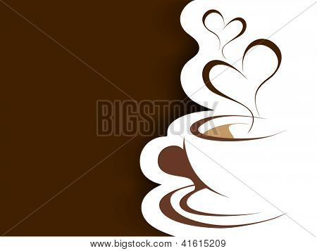 Heart and Coffee, Love Background. EPS 10.