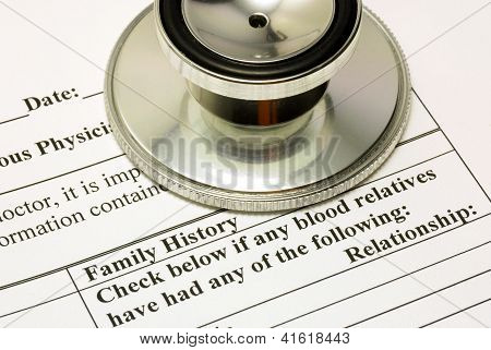 Filling the Family History section in the medical history questionnaire
