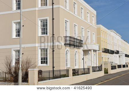 Row of rectangular Urban Houses