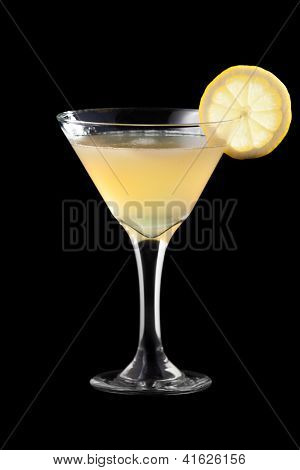 Charlie Chaplin coctail isolated on black background