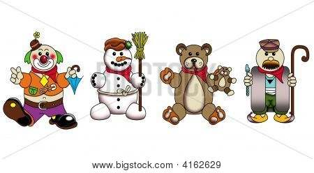 Characters For Children On White