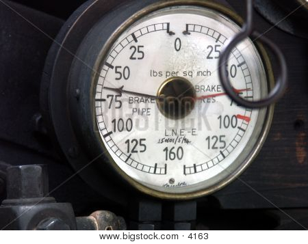 Old-fashioned Pressure Gauge