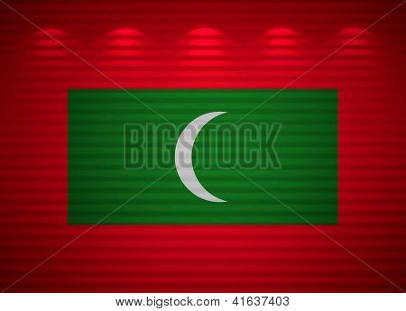 Maldivian Flag Wall, Abstract Background