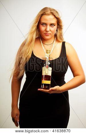 Seductive Lady With Rum