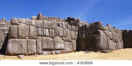 Panorama - Massive Stones In Inca Fortress Walls