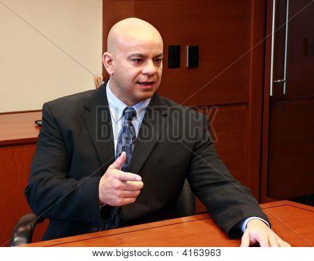 Business Man Talking In A Office