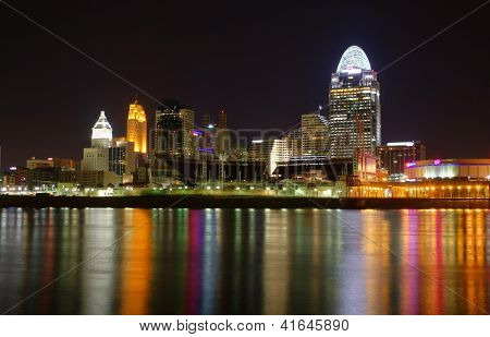 Editorial Cincinnati Ohio At Night