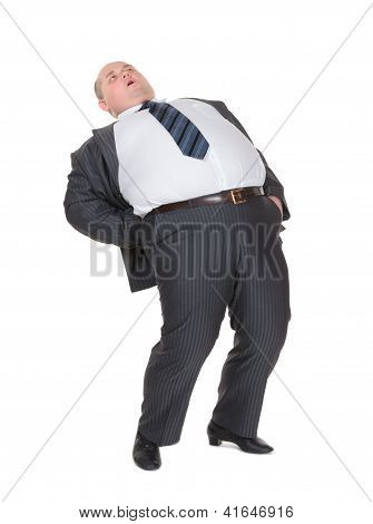 Overweight Man With Back Pain