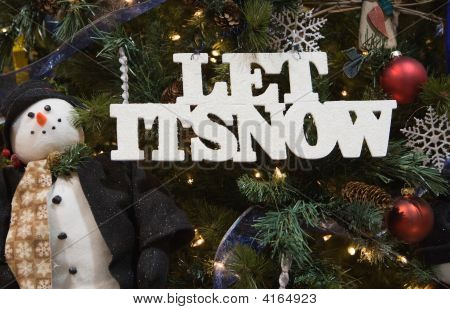 Let It Snow And Snowman