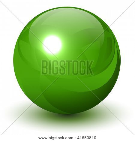 Green metallic sphere