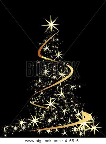 Picture or Photo of Christmas tree black vector illustration with ...: www.crystalgraphics.com/powerpictures/Image.Search.Details.asp...