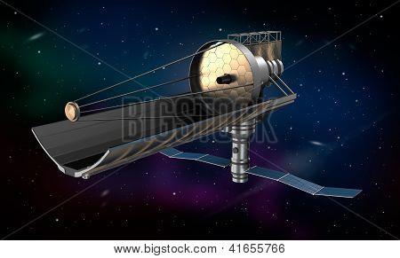 Space telescope in orbit