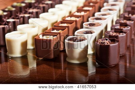 Rows Of Chocolates