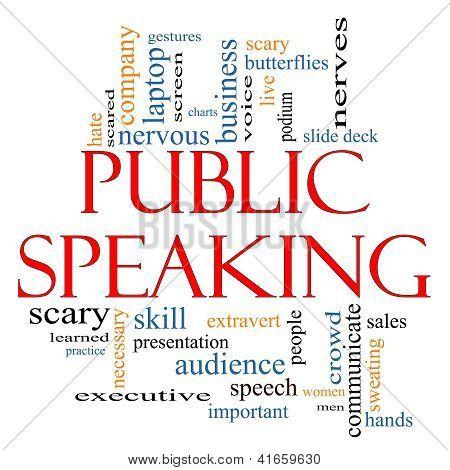 Public Speaking Word Cloud Concept