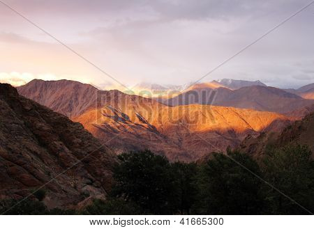 Sunset in Hemis, Leh district, Ladakh range, Northern India