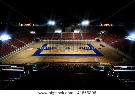 ISTANBUL - NOVEMBER 10: Abdi Ipekci Arena on November 10, 2009 , formerly known as Abdi Ipekci Sports Complex, is a multi-purpose indoor arena located in the Zeytinburnu district of Istanbul, Turkey,