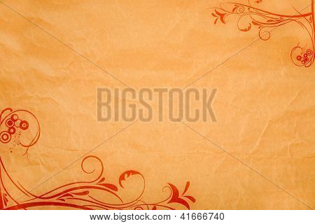 Paper Background With Ornaments