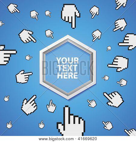 Vetor Banner abstrato com cópia espaço para texto